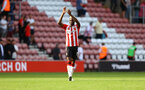 SOUTHAMPTON, ENGLAND - SEPTEMBER 26: Moussa Djenepo of Southampton during the Premier League match between Southampton and Wolverhampton Wanderers at St Mary's Stadium on September 26, 2021 in Southampton, England. (Photo by Matt Watson/Southampton FC via Getty Images)