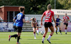 CHELTENHAM, ENGLAND - SEPTEMBER 26: Georgie Freeland of Southampton during the FA National League Southern Premier match between   Southampton Women and London Bees at The Snows Stadium on September 26, 2021 in  Cheltenham, England. (Photo by Isabelle Field/Southampton FC via Getty Images)