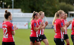 CHELTENHAM, ENGLAND - SEPTEMBER 26: Ciara Watling(center) of Southampton during the FA National League Southern Premier match between   Southampton Women and London Bees at The Snows Stadium on September 26, 2021 in  Cheltenham, England. (Photo by Isabelle Field/Southampton FC via Getty Images)