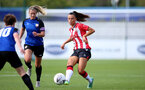 CHELTENHAM, ENGLAND - SEPTEMBER 26: Laura Rafferty(R) of Southampton during the FA National League Southern Premier match between   Southampton Women and London Bees at The Snows Stadium on September 26, 2021 in  Cheltenham, England. (Photo by Isabelle Field/Southampton FC via Getty Images)