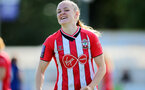 CHELTENHAM, ENGLAND - SEPTEMBER 26: Ella Pusey of Southampton during the FA National League Southern Premier match between   Southampton Women and London Bees at The Snows Stadium on September 26, 2021 in  Cheltenham, England. (Photo by Isabelle Field/Southampton FC via Getty Images)