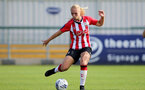 CHELTENHAM, ENGLAND - SEPTEMBER 26: Rosie Parnell of Southampton during the FA National League Southern Premier match between   Southampton Women and London Bees at The Snows Stadium on September 26, 2021 in  Cheltenham, England. (Photo by Isabelle Field/Southampton FC via Getty Images)
