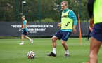 SOUTHAMPTON, ENGLAND - SEPTEMBER 30: James Ward-Prowse during a Southampton FC training session at the Staplewood Campus on September 30, 2021 in Southampton, England. (Photo by Matt Watson/Southampton FC via Getty Images)