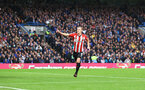 LONDON, ENGLAND - OCTOBER 02: James Ward-Prowse of Southampton celebrates during the Premier League match between Chelsea and Southampton at Stamford Bridge on October 02, 2021 in London, England. (Photo by Matt Watson/Southampton FC via Getty Images)