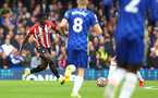 LONDON, ENGLAND - OCTOBER 02: Mohammed Salisu of Southampton during the Premier League match between Chelsea and Southampton at Stamford Bridge on October 02, 2021 in London, England. (Photo by Matt Watson/Southampton FC via Getty Images)