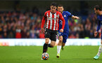 LONDON, ENGLAND - OCTOBER 02: Tino Livramento of Southampton during the Premier League match between Chelsea and Southampton at Stamford Bridge on October 02, 2021 in London, England. (Photo by Matt Watson/Southampton FC via Getty Images)