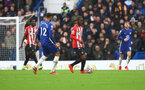 LONDON, ENGLAND - OCTOBER 02: Ibrahima Diallo of Southampton during the Premier League match between Chelsea and Southampton at Stamford Bridge on October 02, 2021 in London, England. (Photo by Matt Watson/Southampton FC via Getty Images)