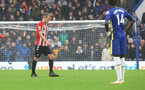 LONDON, ENGLAND - OCTOBER 02: James Ward-Prowse of Southampton leaves the pitch during the Premier League match between Chelsea and Southampton at Stamford Bridge on October 02, 2021 in London, England. (Photo by Matt Watson/Southampton FC via Getty Images)