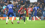 LONDON, ENGLAND - OCTOBER 02: Moussa Djenepo of Southampton during the Premier League match between Chelsea and Southampton at Stamford Bridge on October 02, 2021 in London, England. (Photo by Matt Watson/Southampton FC via Getty Images)