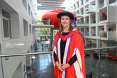 Spacey-Cale receives honorary doctorate from Solent University