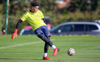 SOUTHAMPTON, ENGLAND - OCTOBER 11:  during Southampton U18s training session at Staplewood Training Ground on October 12, 2021 in Southampton, England. (Photo by Isabelle Field/Southampton FC via Getty Images)