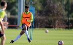 SOUTHAMPTON, ENGLAND - OCTOBER 11: Joshua Squires during Southampton U18s training session at Staplewood Training Ground on October 12, 2021 in Southampton, England. (Photo by Isabelle Field/Southampton FC via Getty Images)